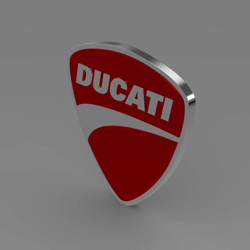 ducati 3d logo 3d model 3ds max fbx c4d lwo ma mb hrc xsi obj 150261