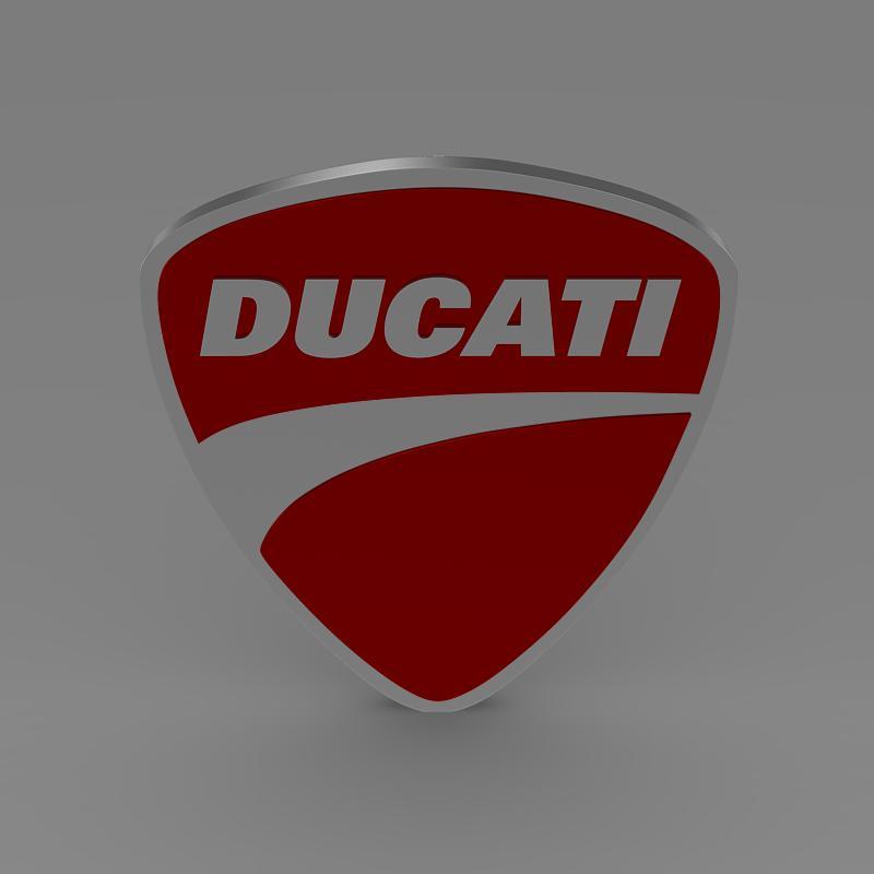 ducati 3d logo 3d model 3ds max fbx c4d lwo ma mb hrc xsi obj 150262
