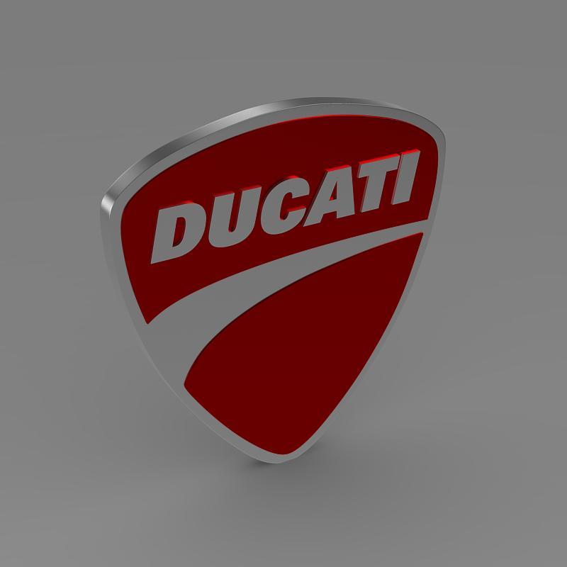 ducati 3d logo 3d model 3ds max fbx c4d lwo ma mb hrc xsi obj 150263