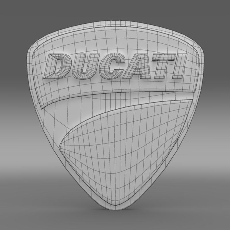 ducati 3d logo 3d model 3ds max fbx c4d lwo ma mb hrc xsi obj 150264