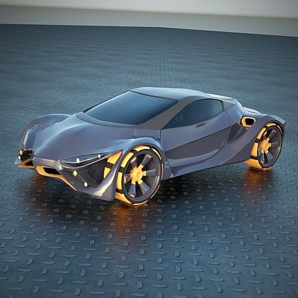 Future Cars: E FuturOn Concept Car 3D Model