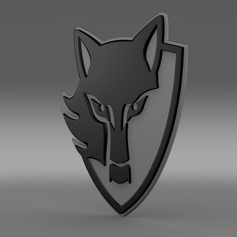 e wolf logo 3d model 3ds max fbx c4d lwo ma mb hrc xsi obj 150463