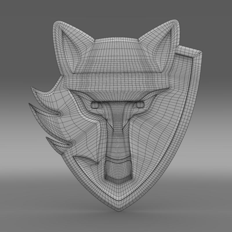 logo wolf blaidd Model 3d 3ds max fbx c4d ar gyfer yr hrc xsi obj