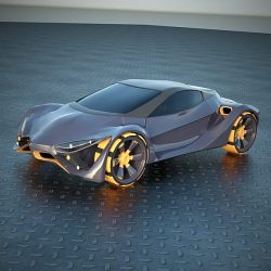 E FuturOn concept car ( 272.14KB jpg by futurex3d )