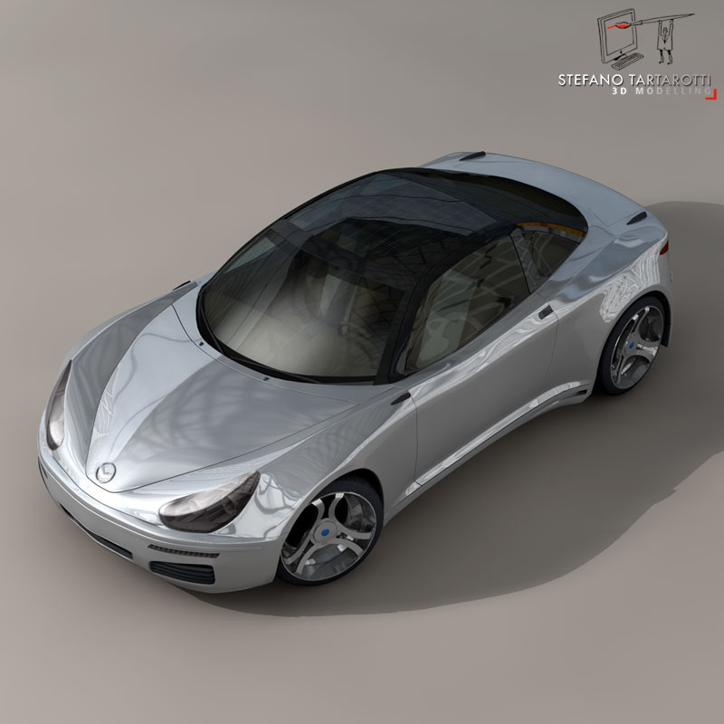 electric concept sports car 3d model 3ds dxf fbx c4d obj 141514