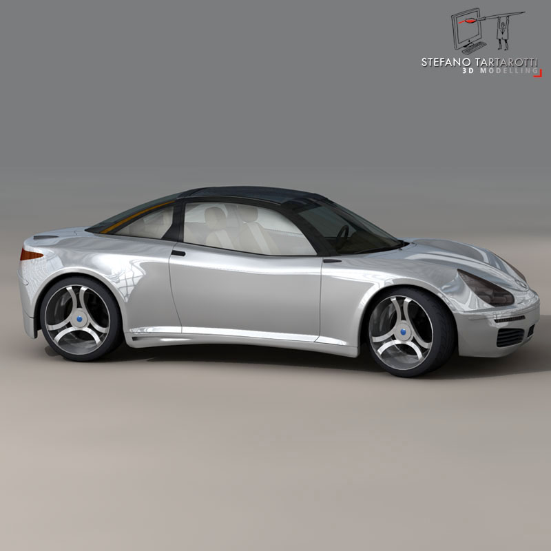 electric concept sports car 3d model 3ds dxf fbx c4d obj 141515