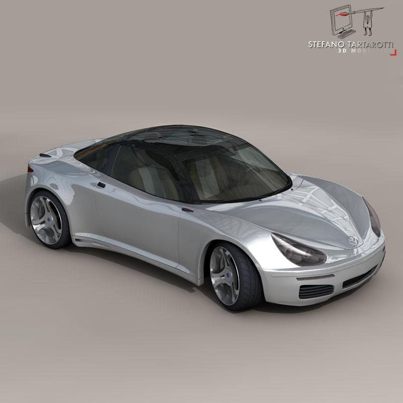 electric concept sports car 3d model 3ds dxf fbx c4d obj 141516