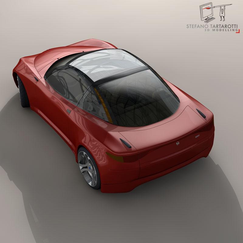 electric concept sports car 3d model 3ds dxf fbx c4d obj 141517