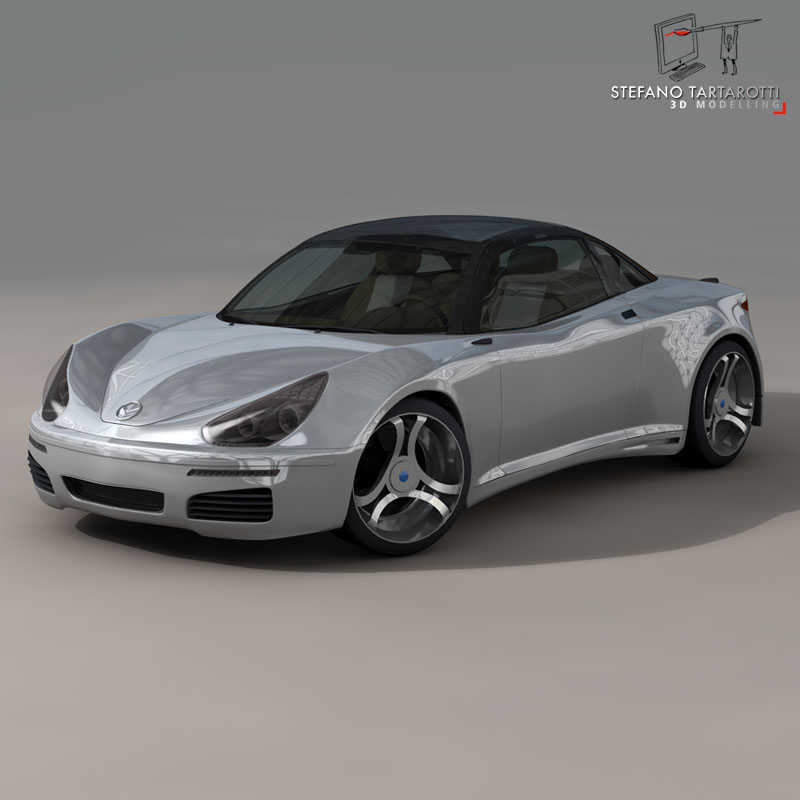 electric concept sports car 3d model 3ds dxf fbx c4d obj 141518