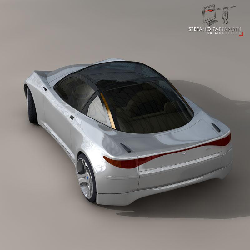electric concept sports car 3d model 3ds dxf fbx c4d obj 141519
