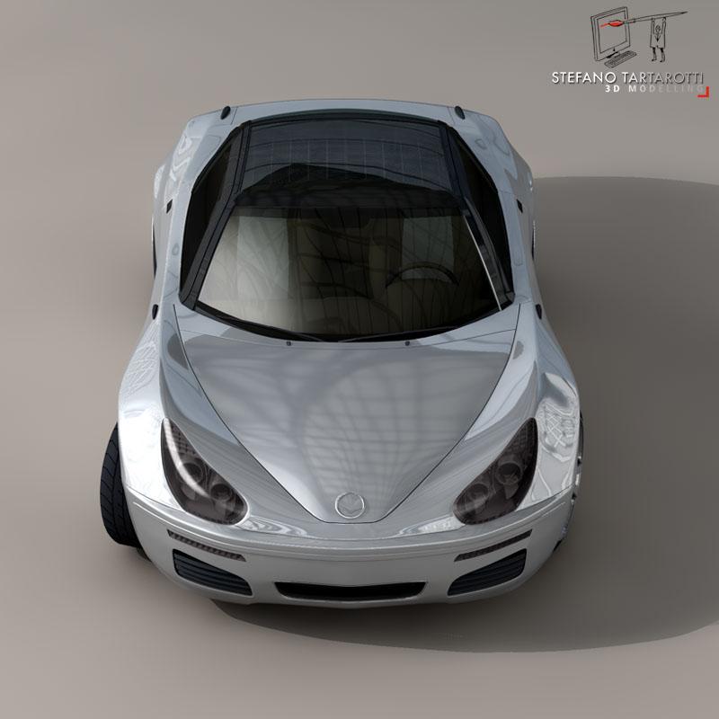electric concept sports car 3d model 3ds dxf fbx c4d obj 141520