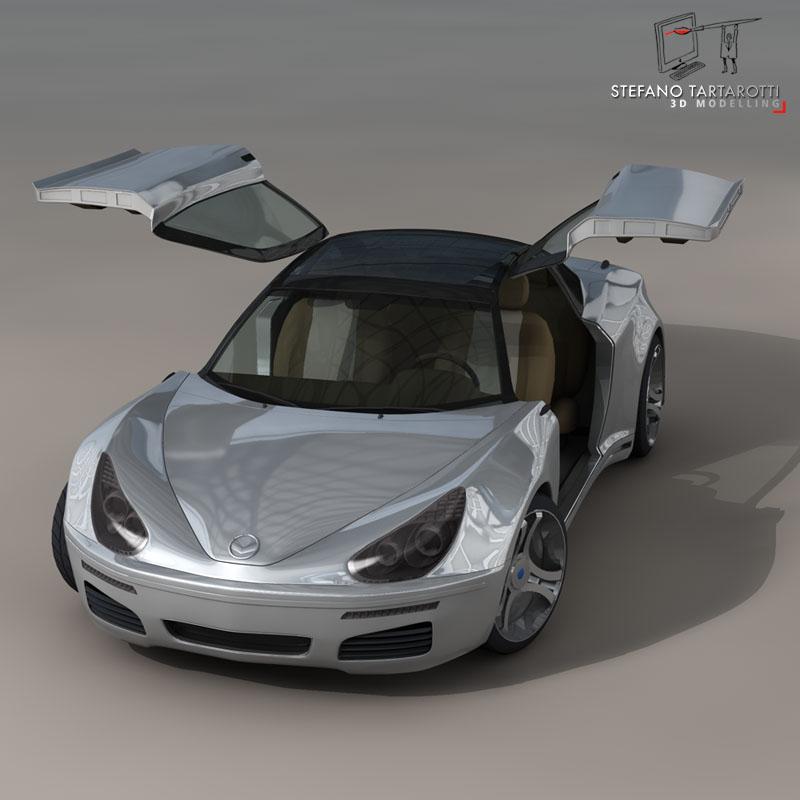 electric concept sports car 3d model 3ds dxf fbx c4d obj 141521