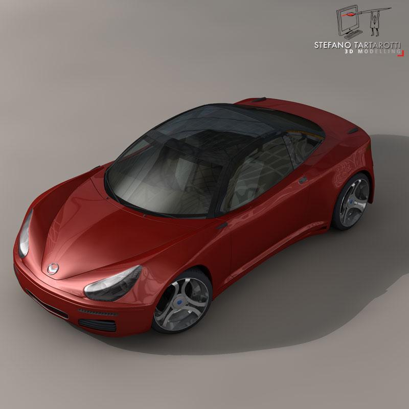 electric concept sports car 3d model 3ds dxf fbx c4d obj 141522