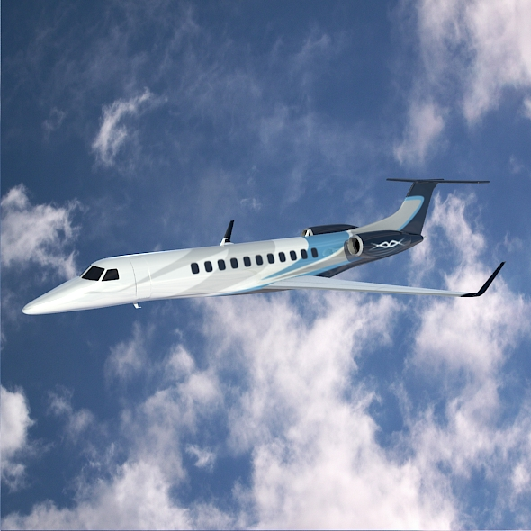 embraer legacy 650 private jet 3d model 3ds fbx blend dae lwo obj 165326