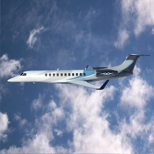 embraer legacy 650 private jet 3d model 3ds fbx blend dae lwo obj 165327