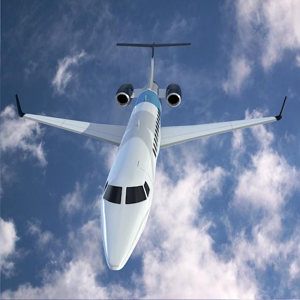 embraer legacy 650 private jet 3d model 3ds fbx blend dae lwo obj 165328