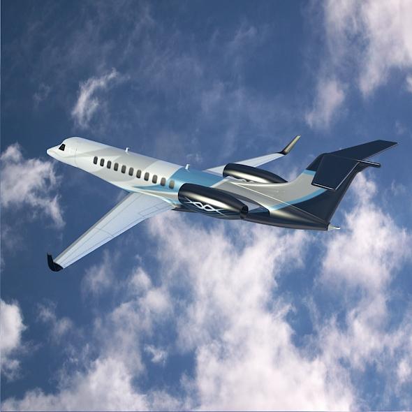 embraer legacy 650 private jet 3d model 3ds fbx blend dae lwo obj 165329