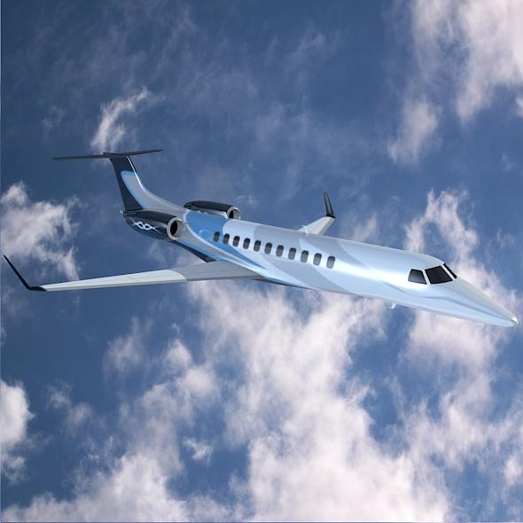 embraer legacy 650 private jet 3d model 3ds fbx blend dae lwo obj 165330