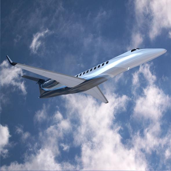 embraer legacy 650 private jet 3d model 3ds fbx blend dae lwo obj 165331