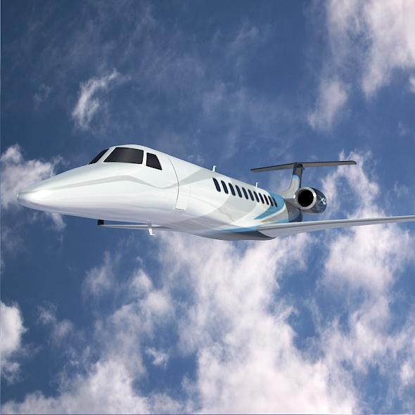 embraer legacy 650 private jet 3d model 3ds fbx blend dae lwo obj 165332