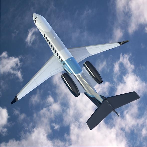 embraer legacy 650 private jet 3d model 3ds fbx blend dae lwo obj 165333