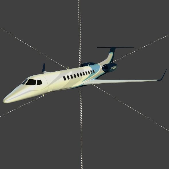 embraer legacy 650 private jet 3d model 3ds fbx blend dae lwo obj 165334