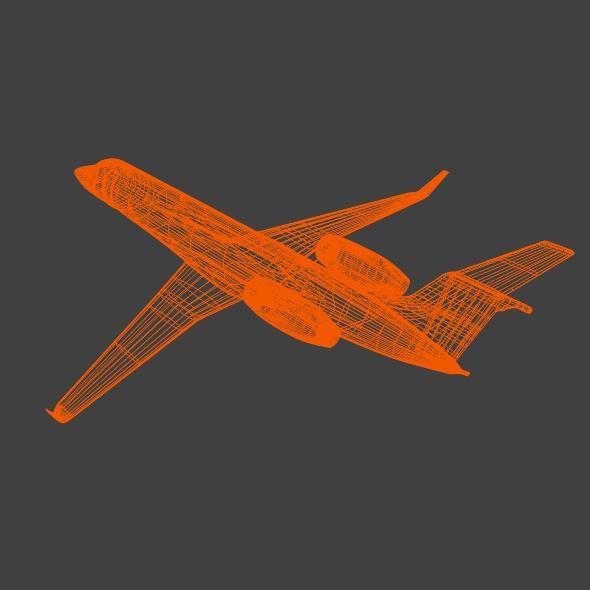 embraer legacy 650 private jet 3d model 3ds fbx blend dae lwo obj 165336