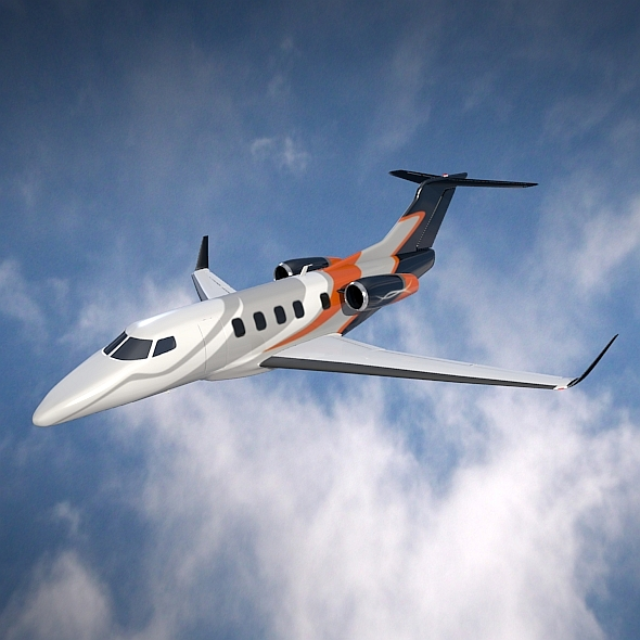 embraer phenom 300 business jet 3d model 3ds fbx blend dae lwo obj 165313