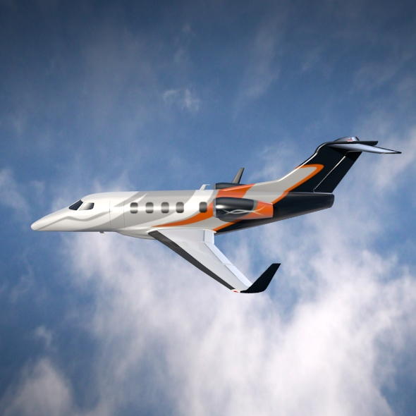 embraer phenom 300 business jet 3d model 3ds fbx blend dae lwo obj 165314