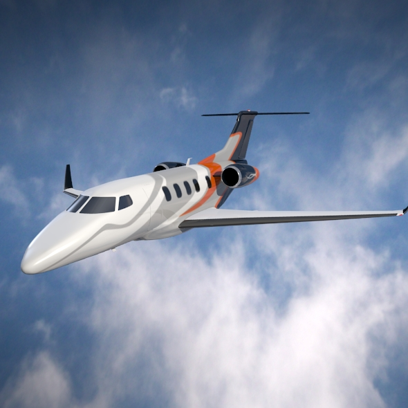embraer phenom 300 business jet 3d model 3ds fbx blend dae lwo obj 165316