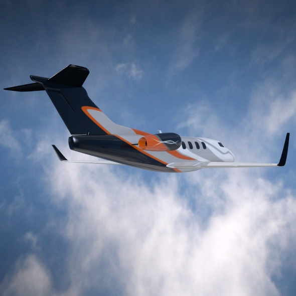 embraer phenom 300 business jet 3d model 3ds fbx blend dae lwo obj 165319