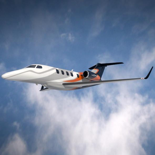 embraer phenom 300 business jet 3d model 3ds fbx blend dae lwo obj 165320