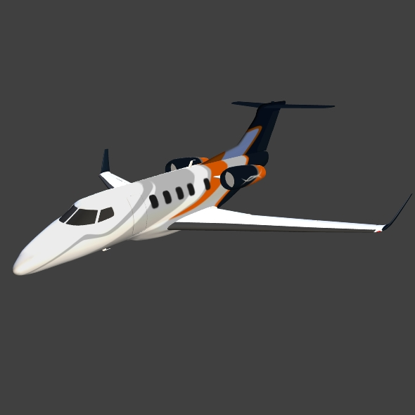 embraer phenom 300 business jet 3d model 3ds fbx blend dae lwo obj 165321
