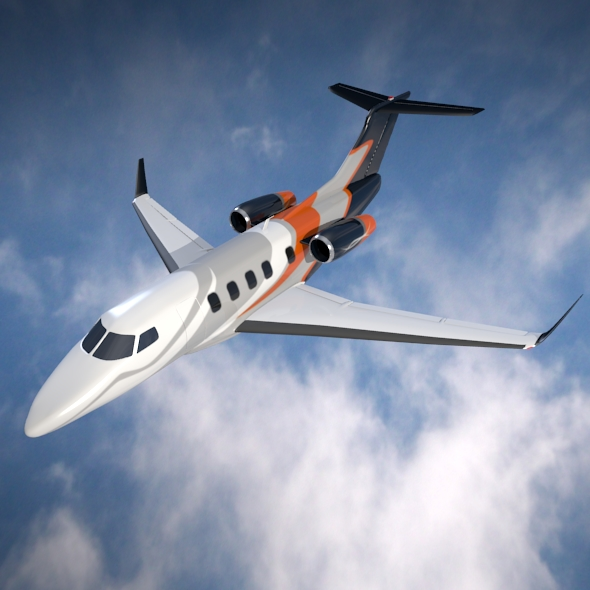 embraer phenom 300 business jet 3d model 3ds fbx blend dae lwo obj 165322
