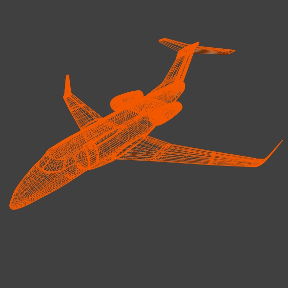 embraer phenom 300 business jet 3d model 3ds fbx blend dae lwo obj 165324