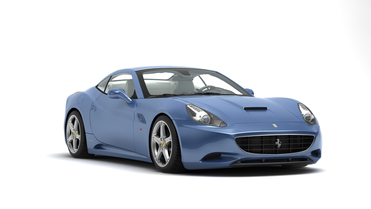 ferrari california 09 3d model 3ds max fbx c4d 140633