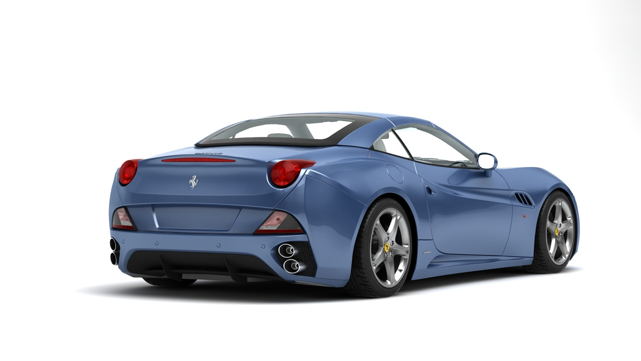 ferrari california 09 3d model 3ds max fbx c4d 140634
