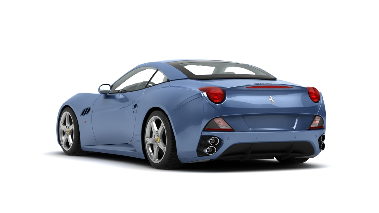 ferrari california 09 3d model 3ds max fbx c4d 140635