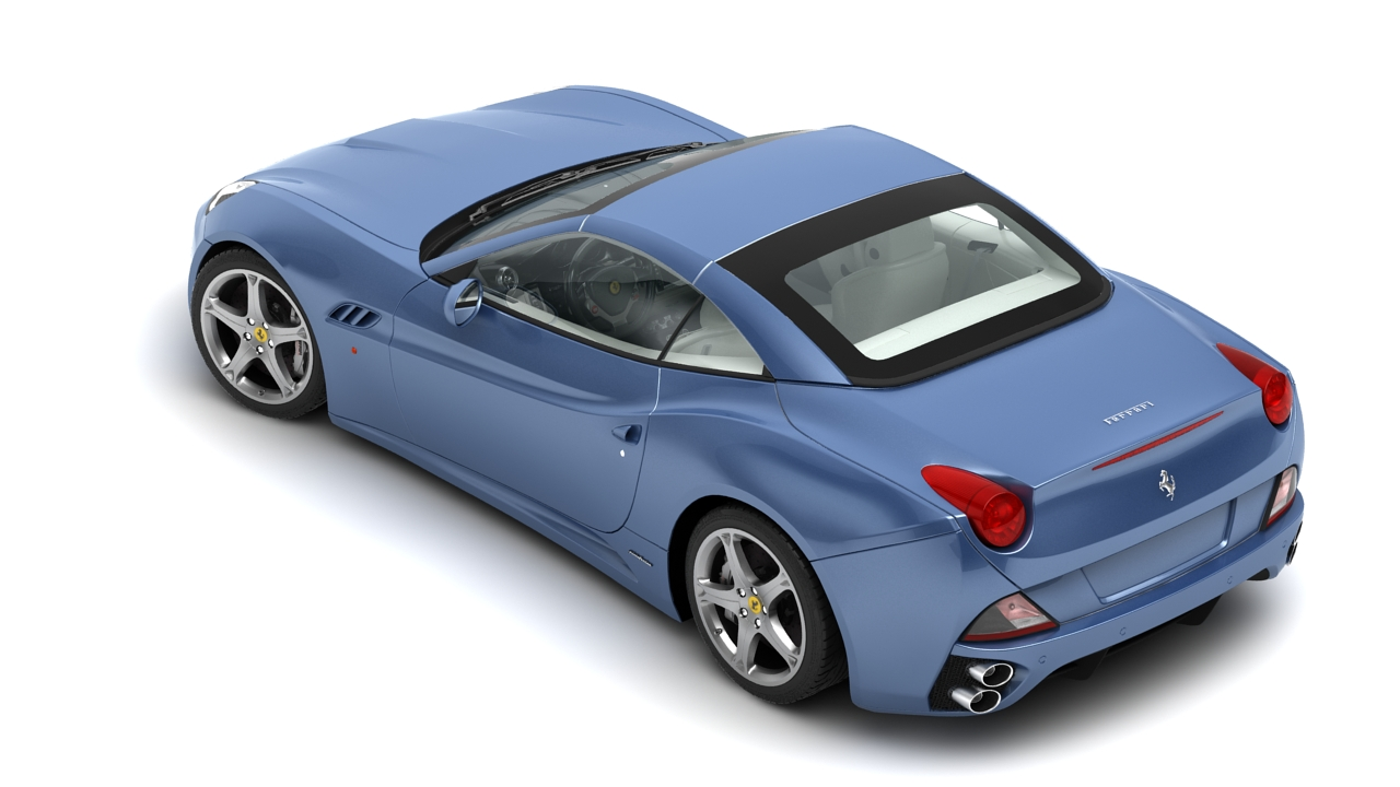 ferrari california 09 3d model 3ds max fbx c4d 140637