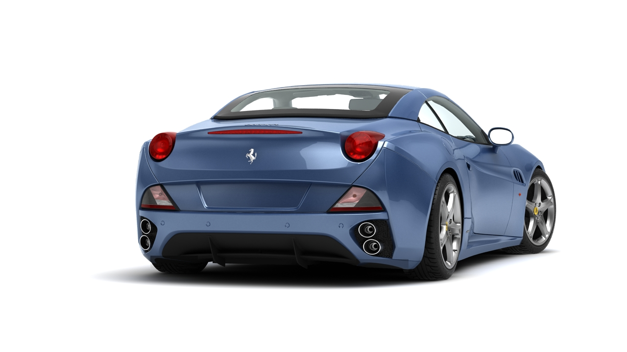 ferrari california 09 3d model 3ds max fbx c4d 140640