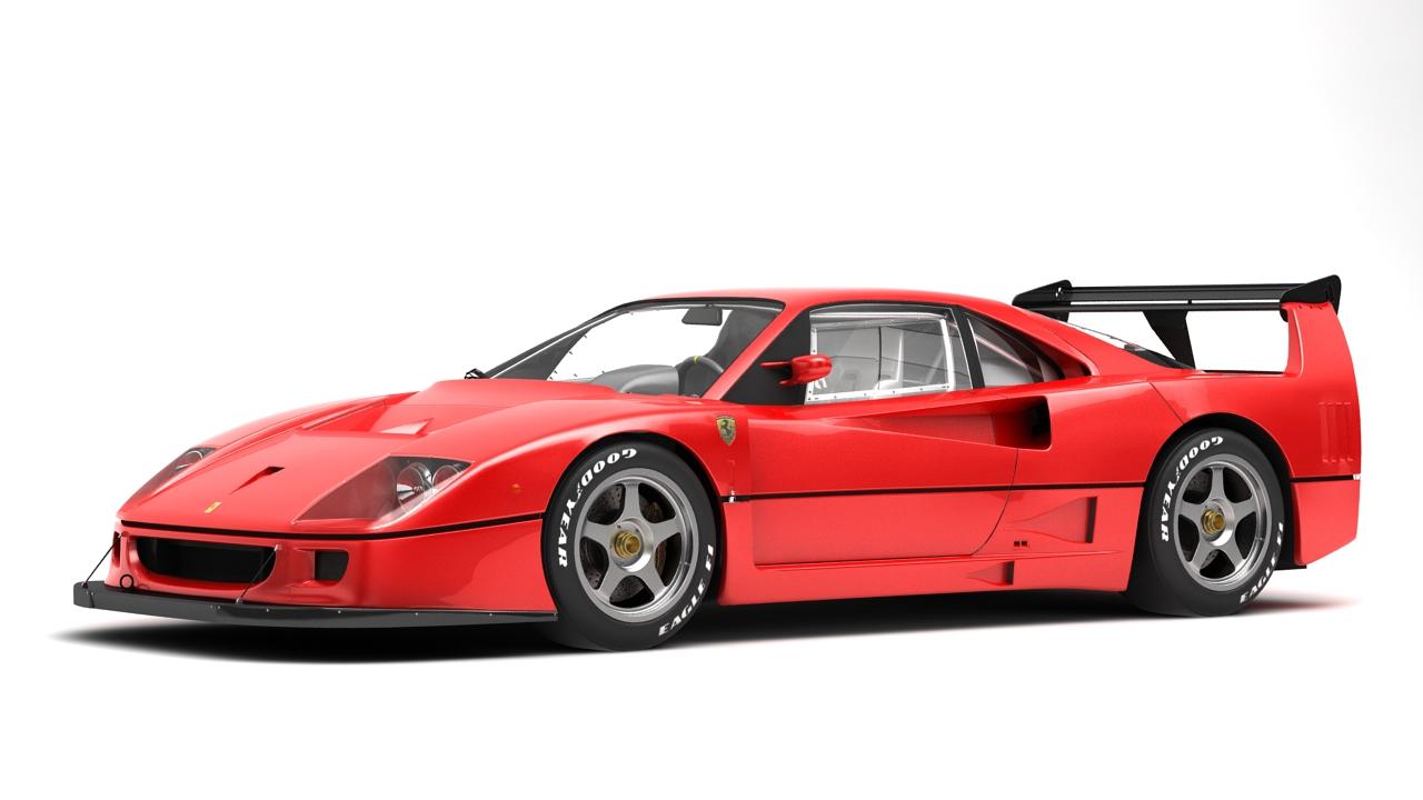 Ferrari F40 Competizione 89 3d Model Buy Ferrari F40 Competizione 89 3d Model Flatpyramid