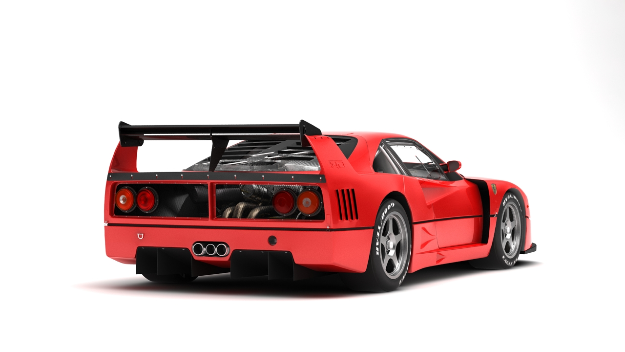 Ferrari F40 Competizione 89 3d Model Buy Ferrari F40