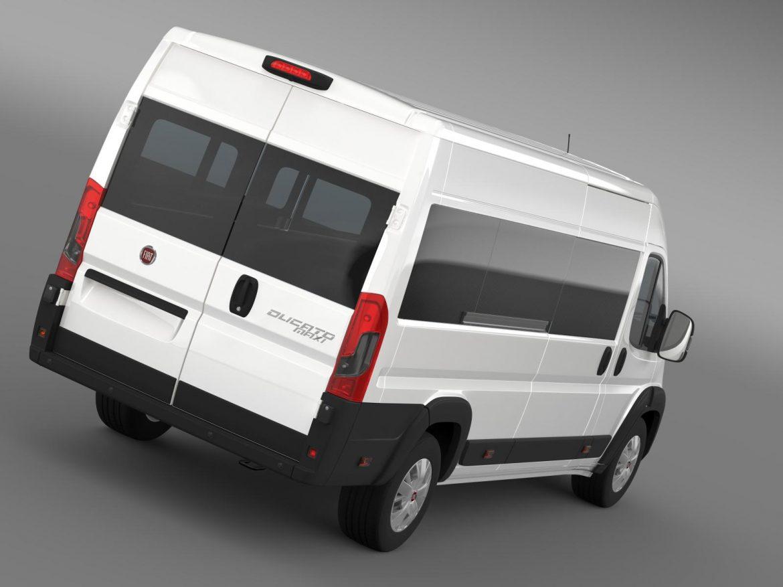 fiat ducato maxi minibus 2015 3d model 3ds max fbx c4d lwo ma mb hrc xsi obj 165874