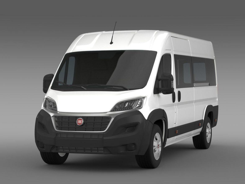 fiat ducato maxi minibus 2015 3d model 3ds max fbx c4d lwo ma mb hrc xsi obj 165875