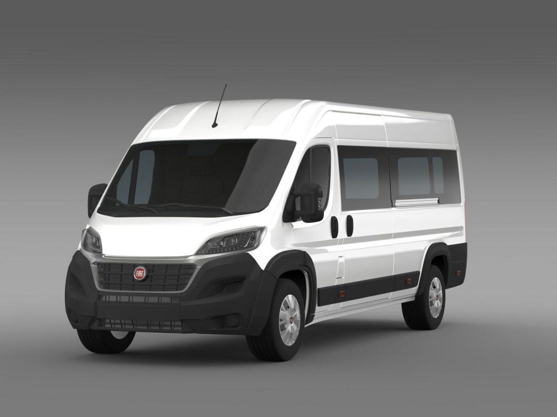 fiat ducato maxi minibus 2015 3d model 3ds max fbx c4d lwo ma mb hrc xsi obj 165876