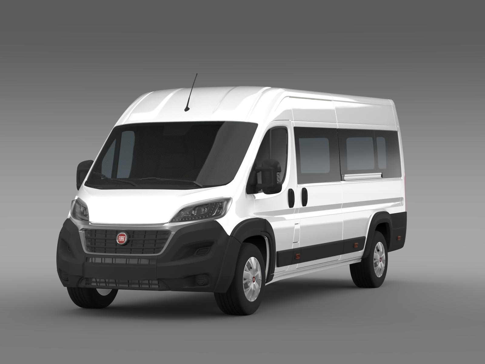 fiat ducato maxi minibus 2015 3d model flatpyramid. Black Bedroom Furniture Sets. Home Design Ideas
