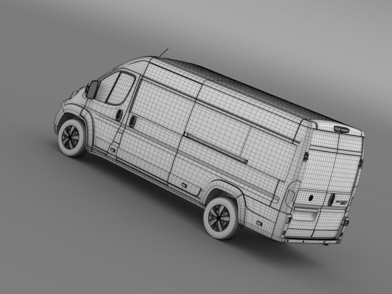 fiat ducato maxi minibus 2015 3d model 3ds max fbx c4d lwo ma mb hrc xsi obj 165891