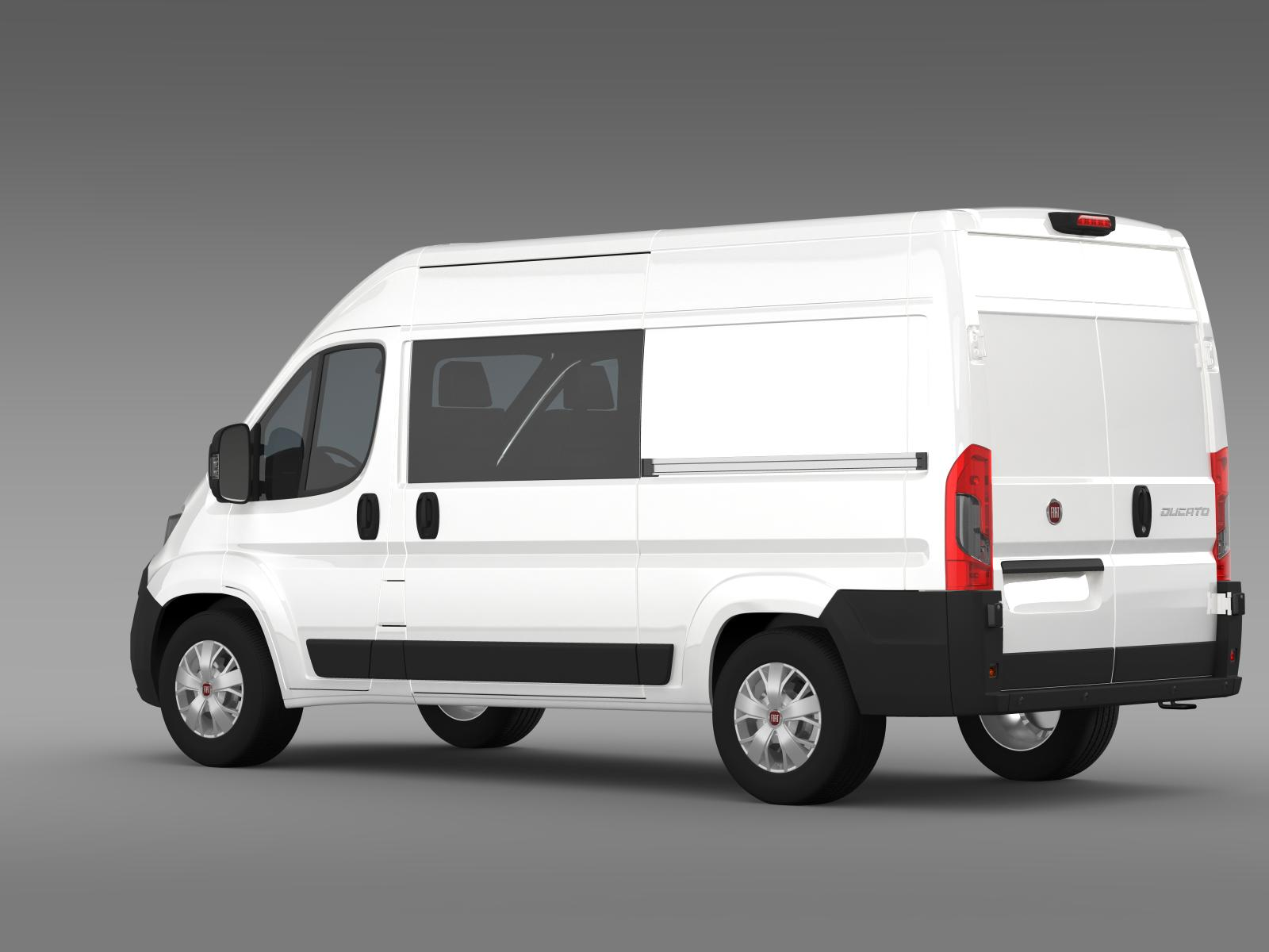 fiat ducato combi van 2015 3d model buy fiat ducato. Black Bedroom Furniture Sets. Home Design Ideas