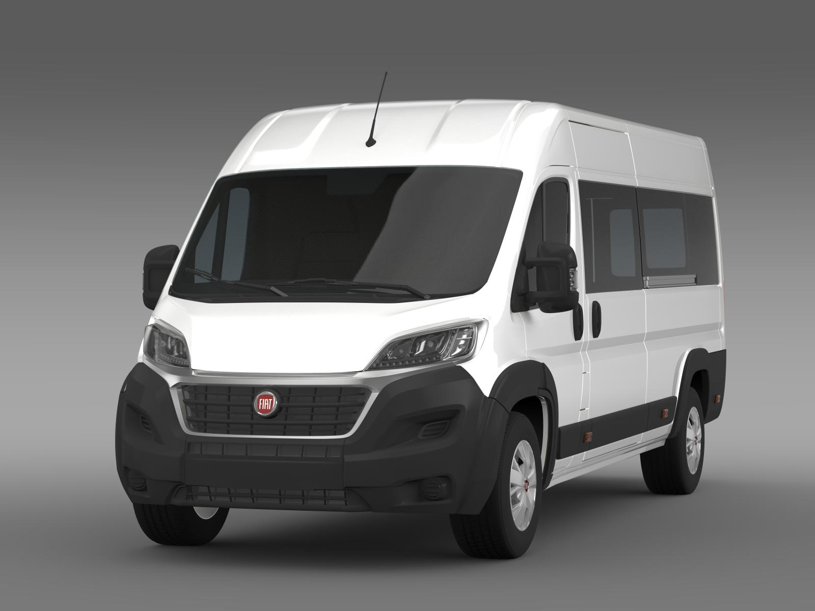 fiat ducato maxi minibus 2015 3d model buy fiat ducato. Black Bedroom Furniture Sets. Home Design Ideas