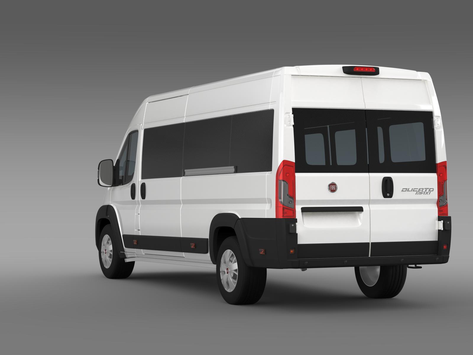 fiat ducato maxi minibus 2015 3d model buy fiat ducato maxi minibus 2015 3d model flatpyramid. Black Bedroom Furniture Sets. Home Design Ideas
